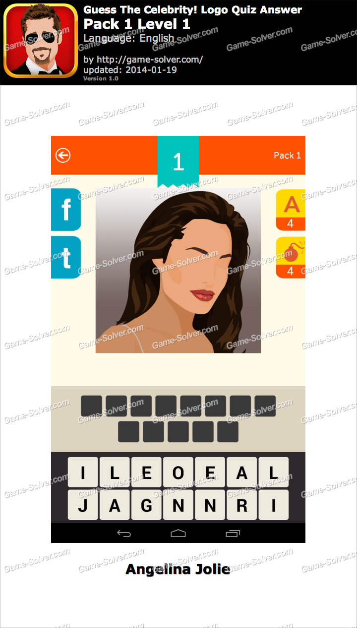 Guess The Celebrity Logo Quiz Pack 1 Level 1