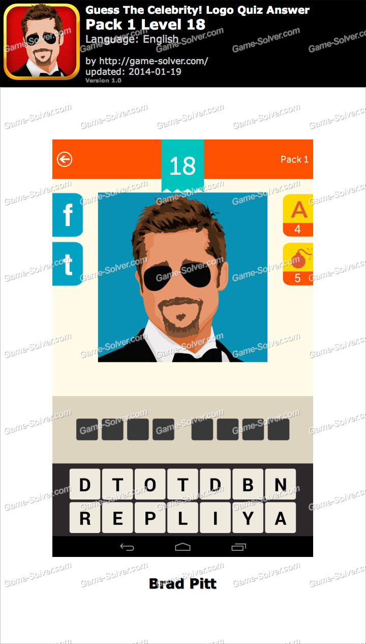 guess the celebrity logo quiz pack 1 level 18 game solver