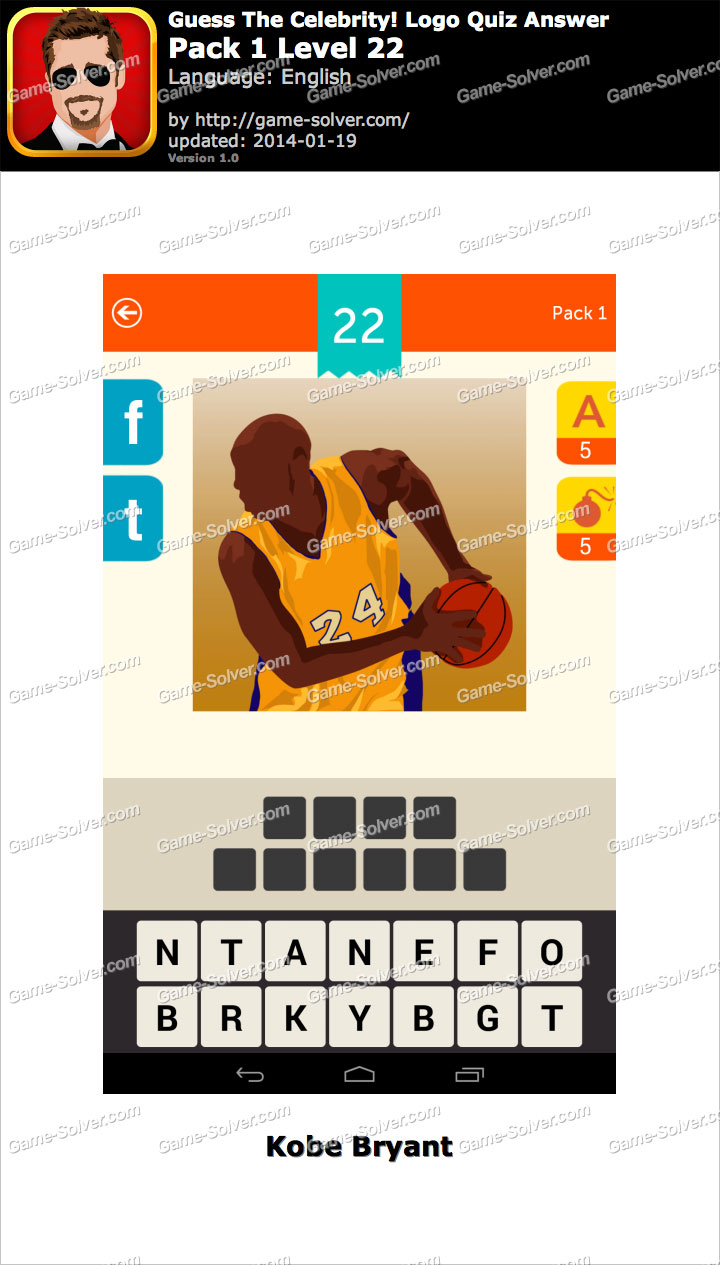 guess the celebrity logo quiz pack 1 level 22 game solver