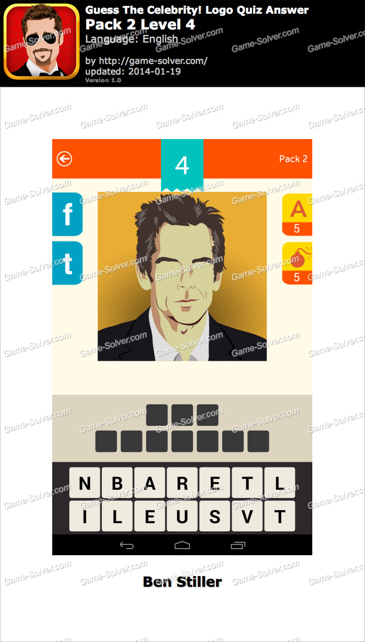 Guess The Celebrity Logo Quiz Pack 2 Level 4