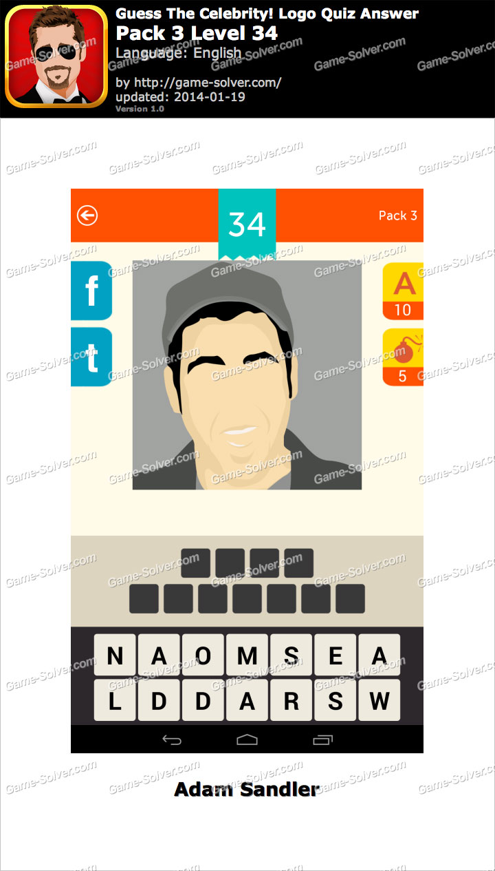 Celebrity Guess Level 34 - Game Solver