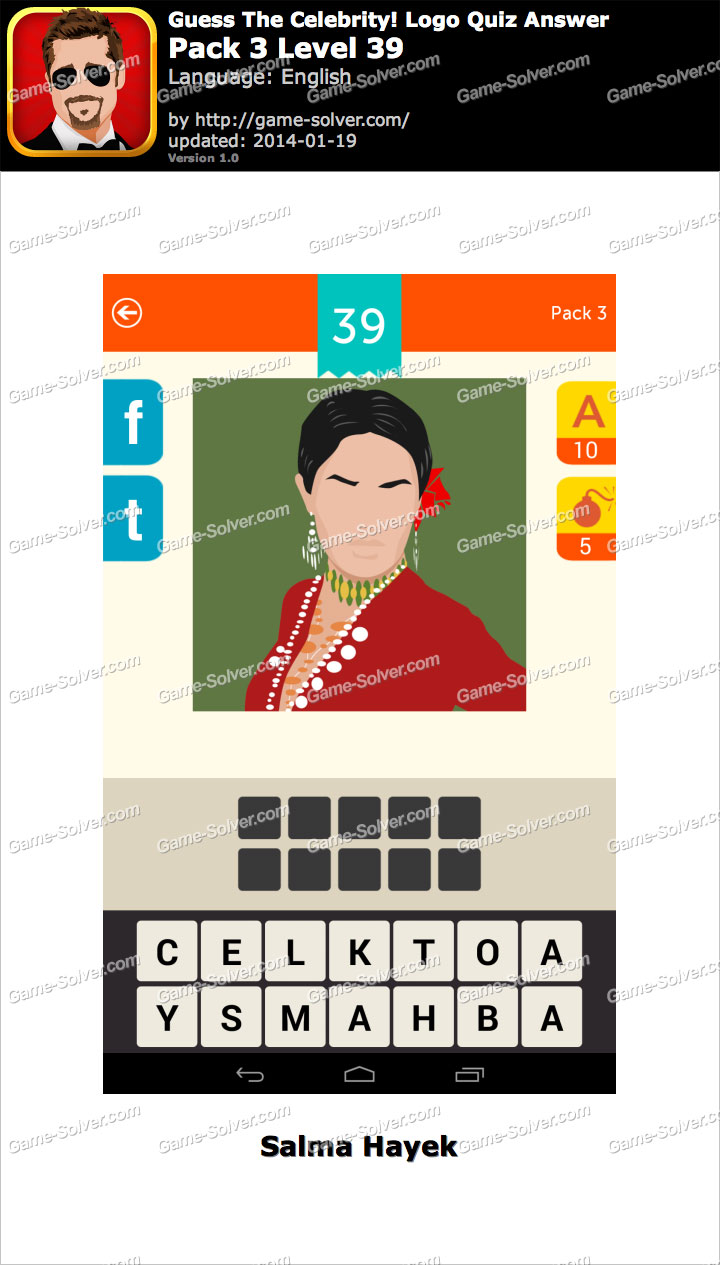 Celebrity Guess Level 39 - Game Solver