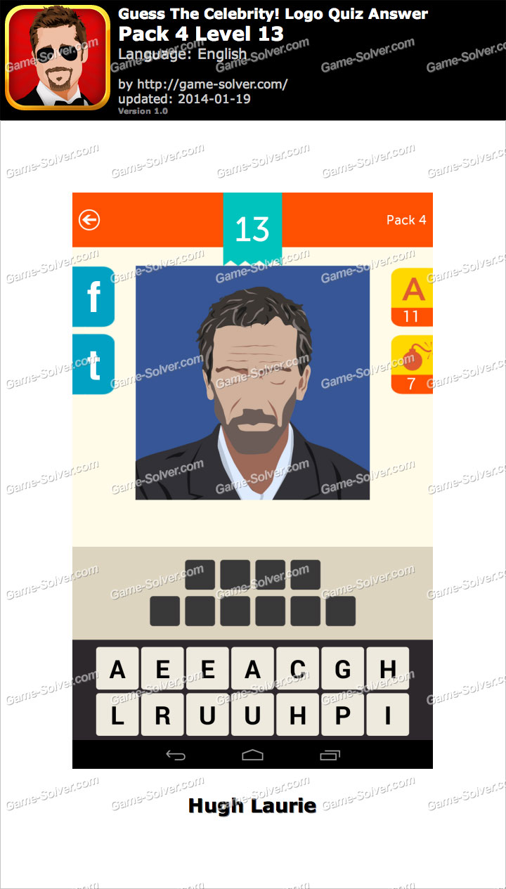 Celebrity Guess Level 13 - Game Solver
