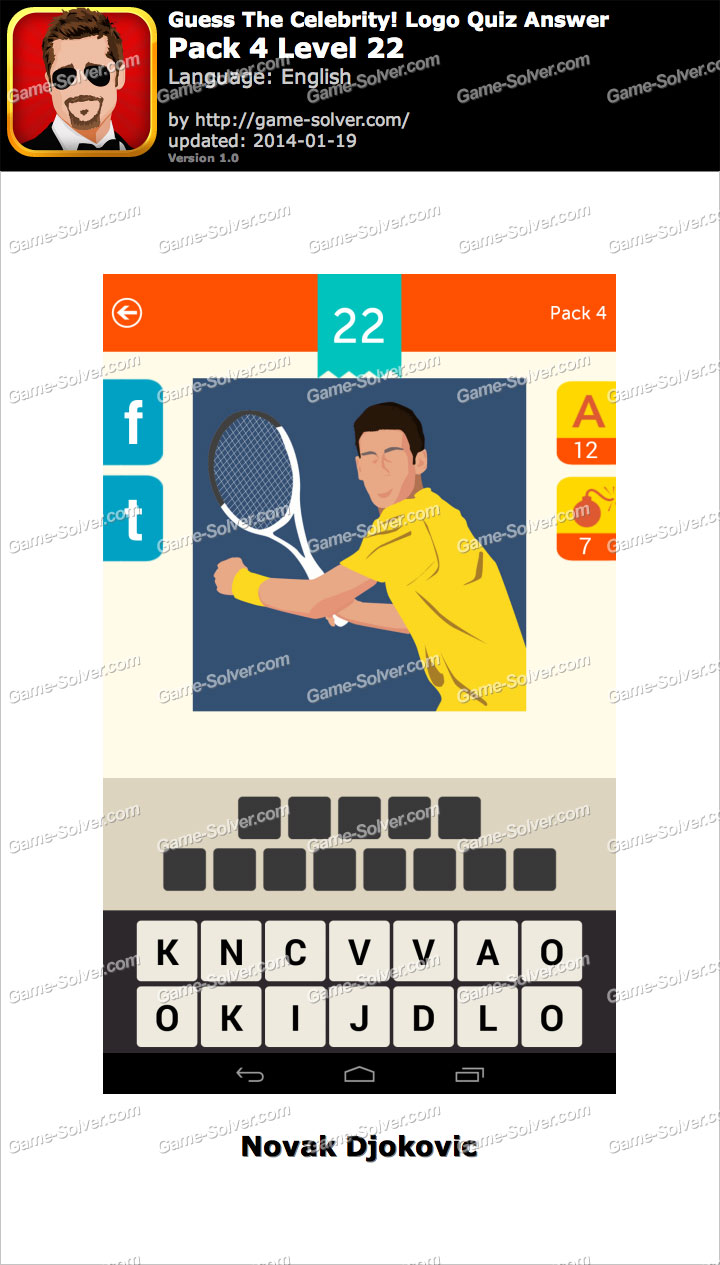 guess the celebrity logo quiz pack 4 level 22 game solver