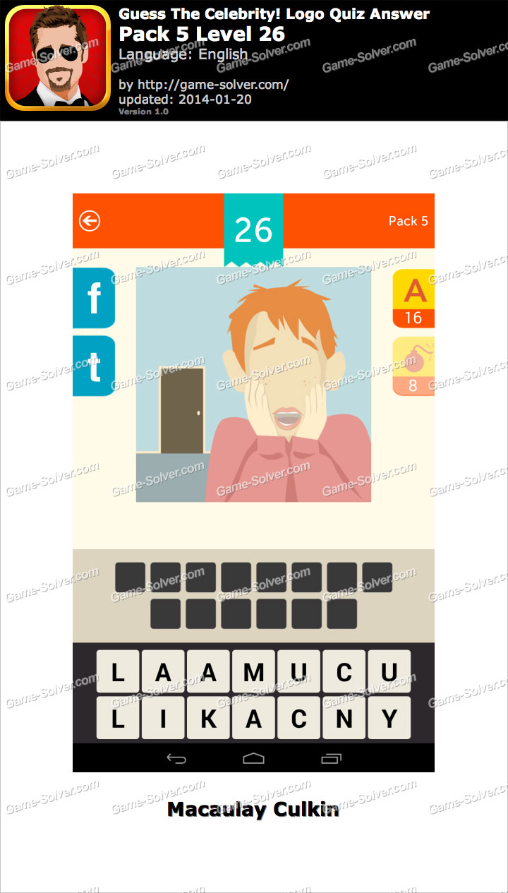Celebrity Guess Level 26 - Game Solver