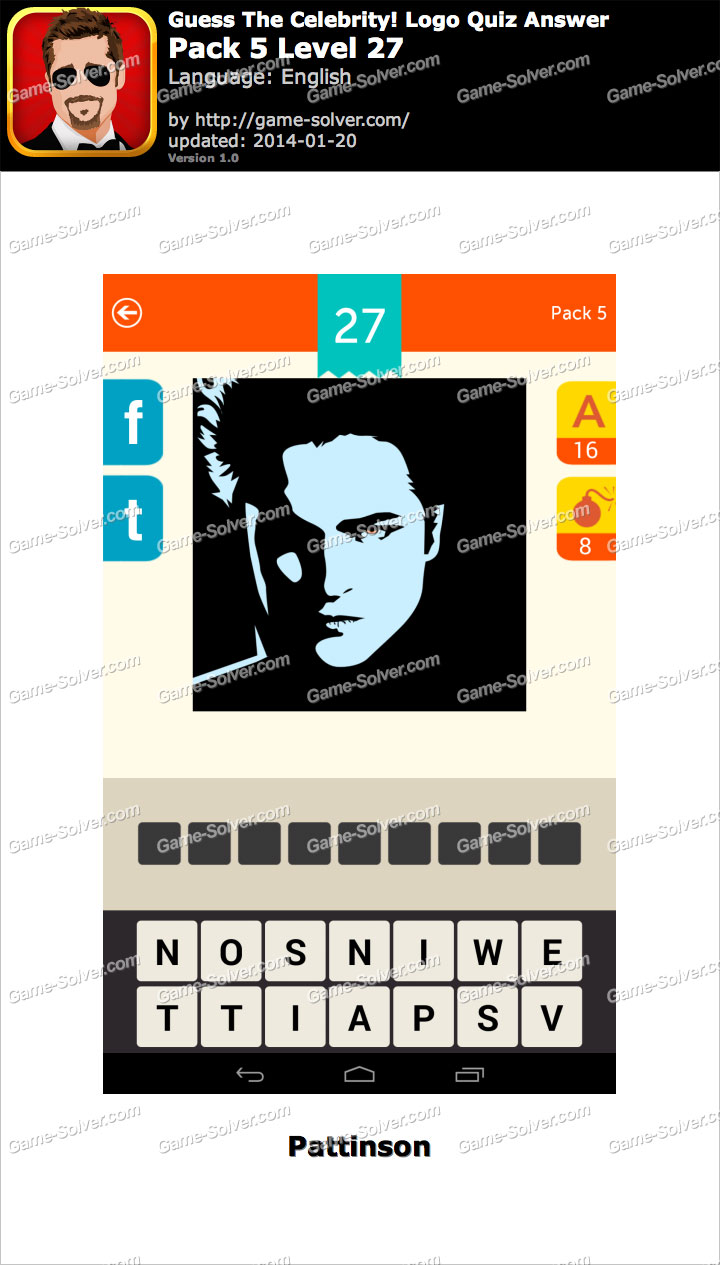 Celebrity logo quiz cheats