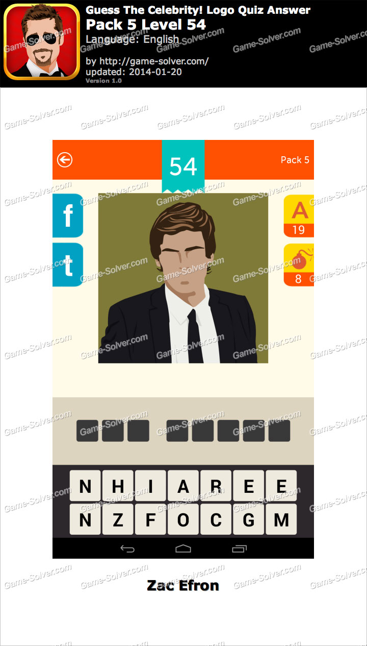 Celebrity Guess Level 54 - Answers King