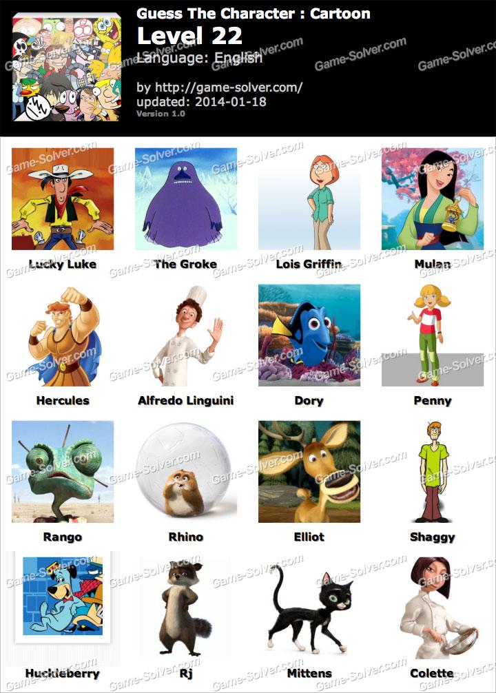 Cartoon Characters Level 6 : Guess the cartoon character answers ankaperla