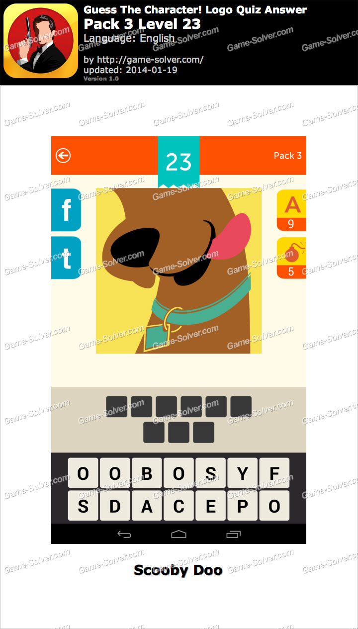 guess the character logo quiz pack 3 level 23 game solver