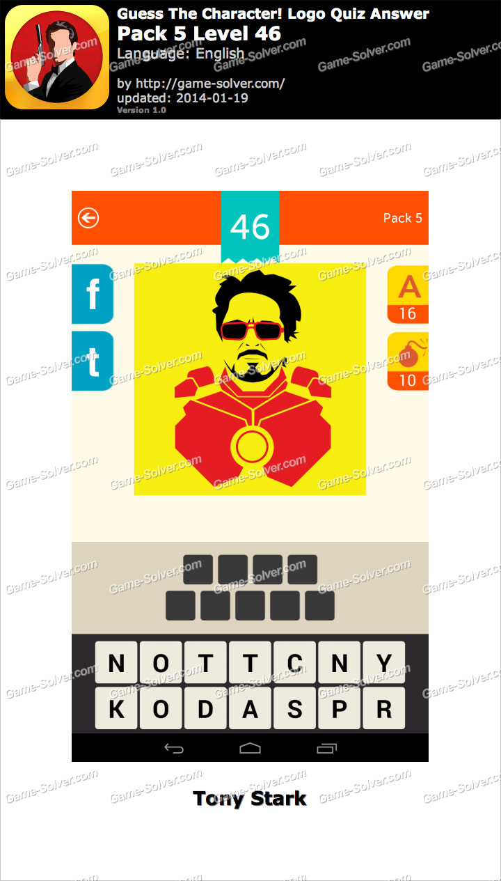 Guess The Character Logo Quiz Pack 5 Level 46 - Game Solver