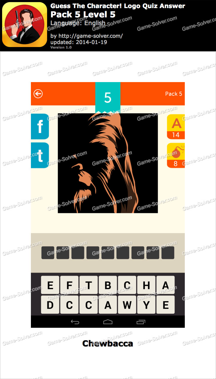 Guess The Character Logo Quiz Pack 5 Level 5 - Game Solver