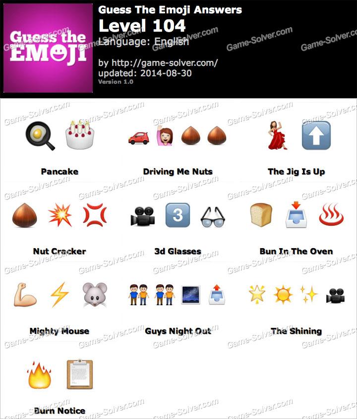 Guess The Emoji Level 72 Guess the Emoji Level 104