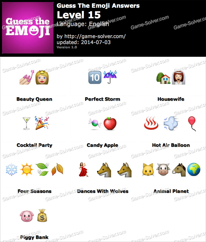 emoji game answers level 15