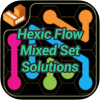 Hexic Flow Mixed Set Solutions