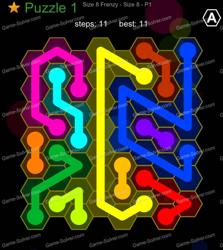 Hexic Flow Sized 8 Frenzy P 1 Puzzle 1