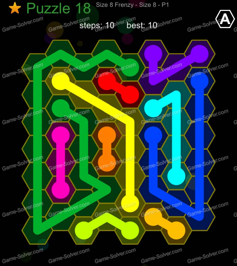 Hexic Flow Sized 8 Frenzy P 1 Puzzle 18