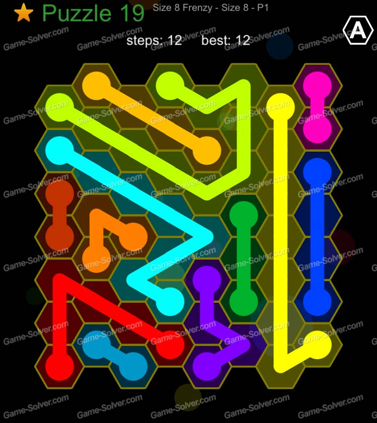Hexic Flow Sized 8 Frenzy P 1 Puzzle 19