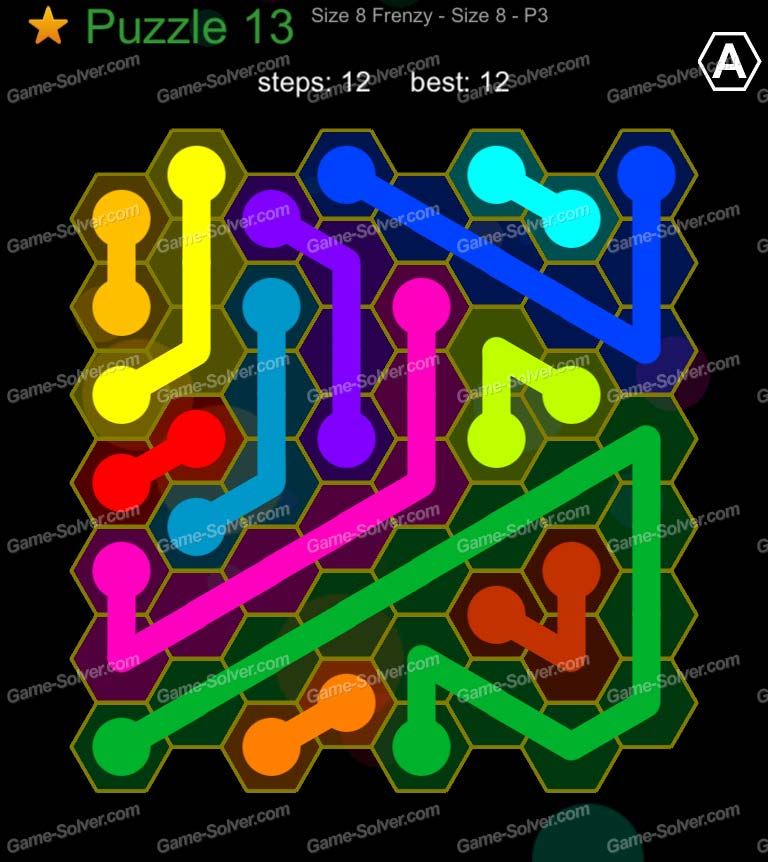 Hexic Flow Sized 8 Frenzy P 3 Puzzle 13