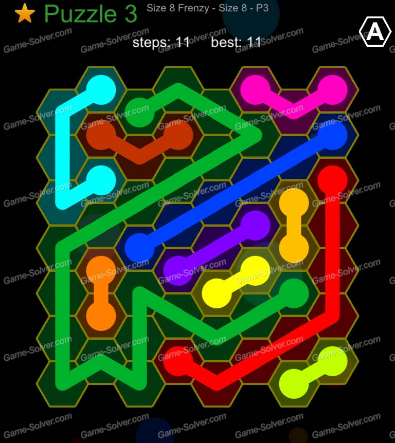 Hexic Flow Sized 8 Frenzy P 3 Puzzle 3