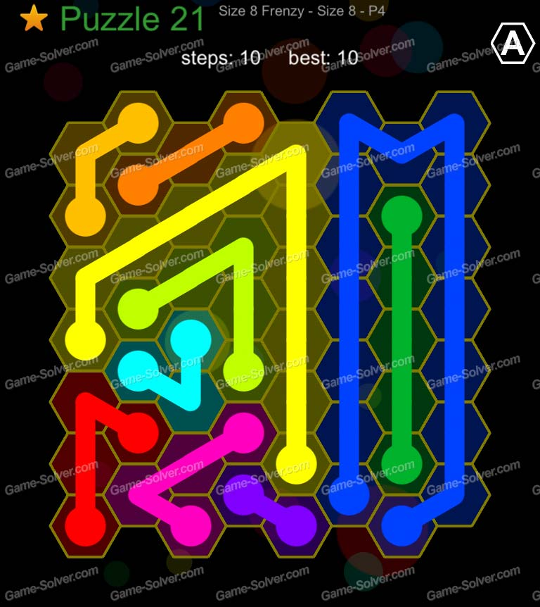 Hexic Flow Sized 8 Frenzy P 4 Puzzle 21