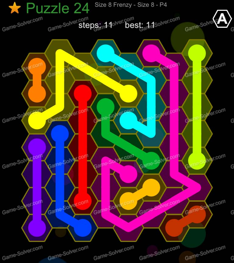 Hexic Flow Sized 8 Frenzy P 4 Puzzle 24
