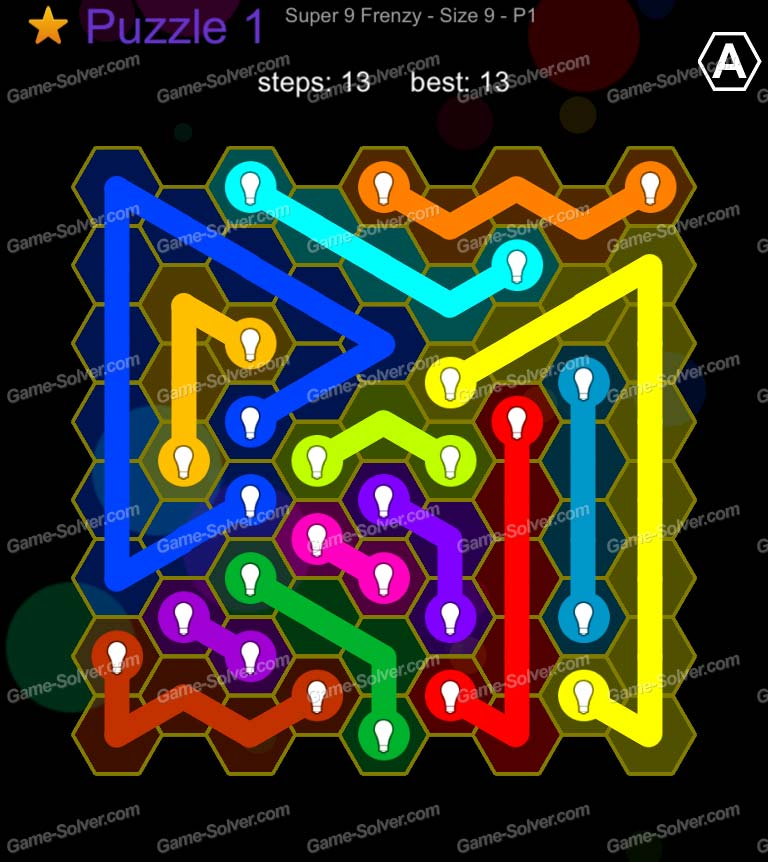 Hexic Flow Super 9 Frenzy P 1 Puzzle 1