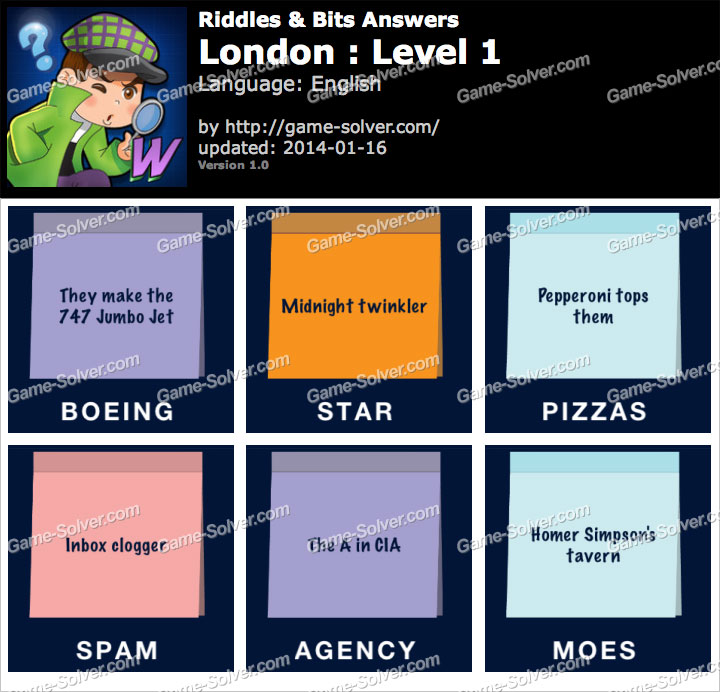 Riddles and Bits London Level 1