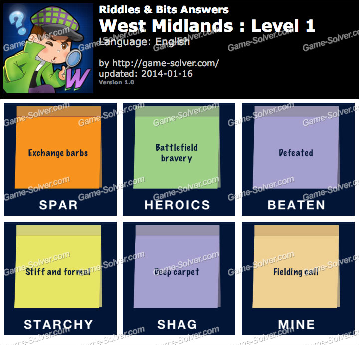 Riddles and Bits West Midlands Level 1
