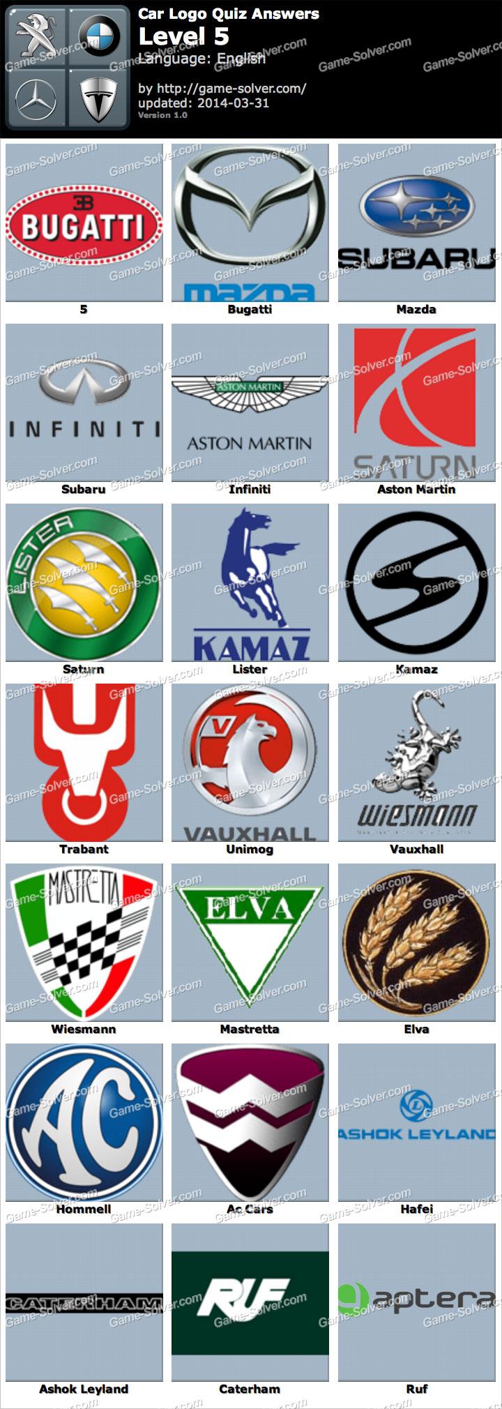 Logo Quiz Answers Level 8 Android App Car Logo Quiz Level 5 ...
