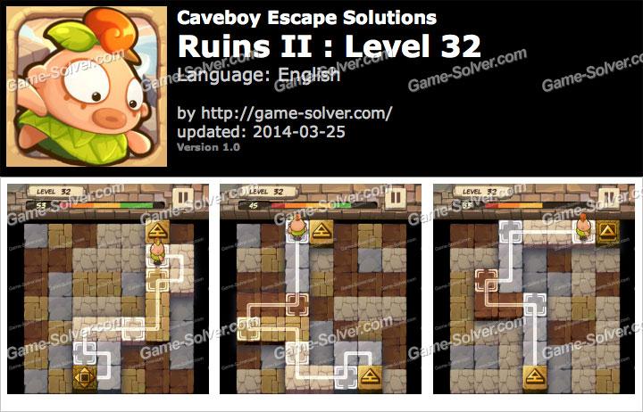 Caveboy Escape Ruins II Level 32