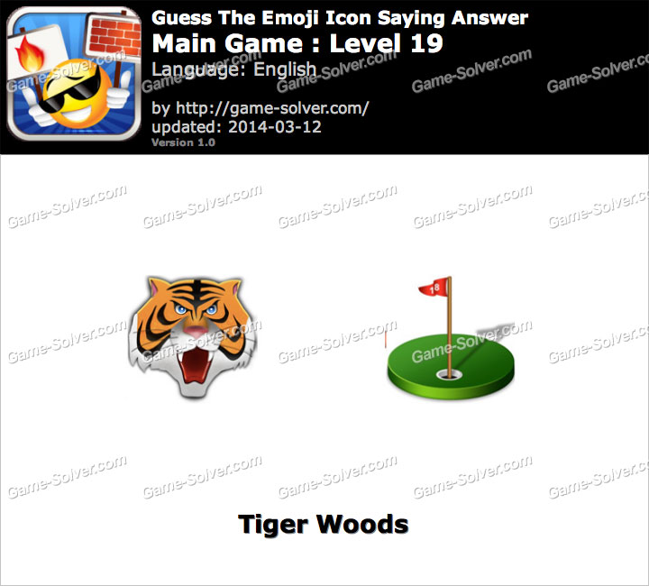 Emoji Icon Main Game Level 19 Game Solver
