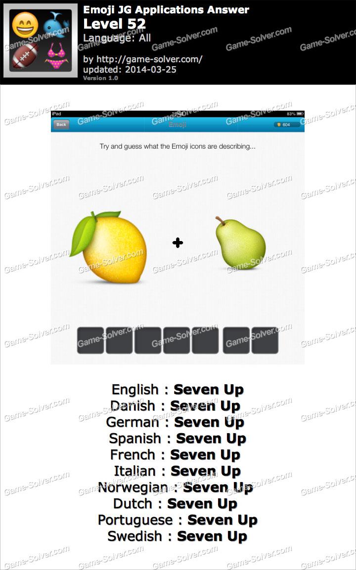 Emoji Words JG Applications Level 52 - Game Solver