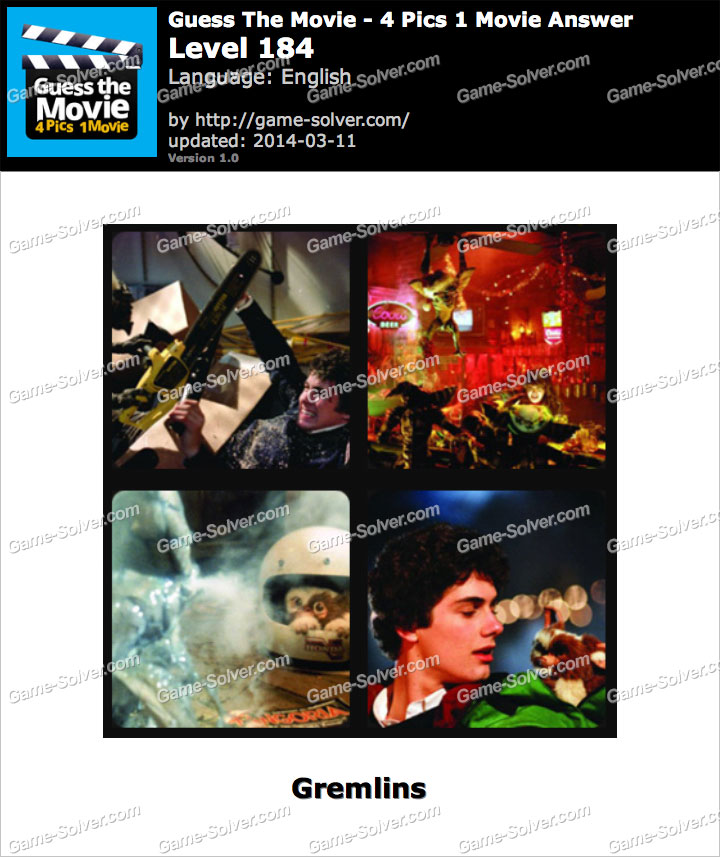 Guess The Movie 4 Pics 1 Movie Level 184