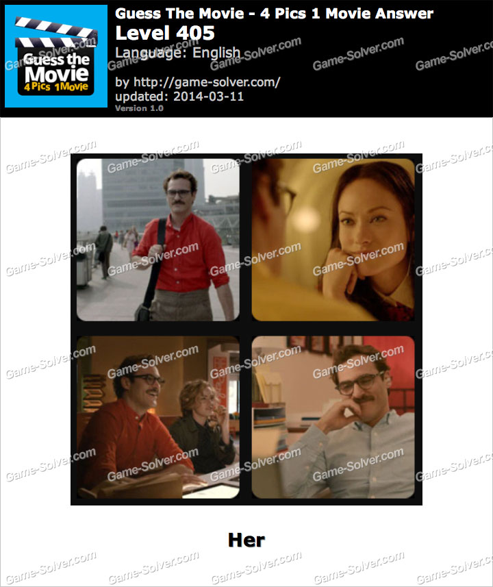 Guess The Movie 4 Pics 1 Movie Level 405