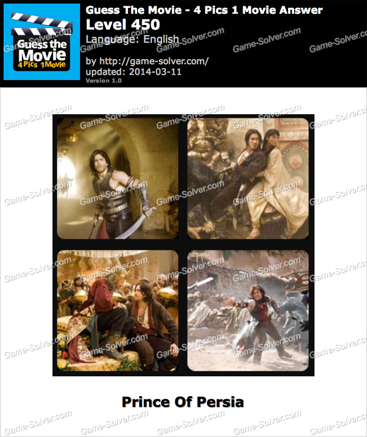 Guess The Movie 4 Pics 1 Movie Level 450