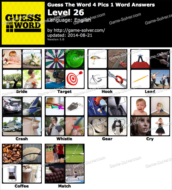 Level Game Level 26 4 Pics 1 Word Level 26