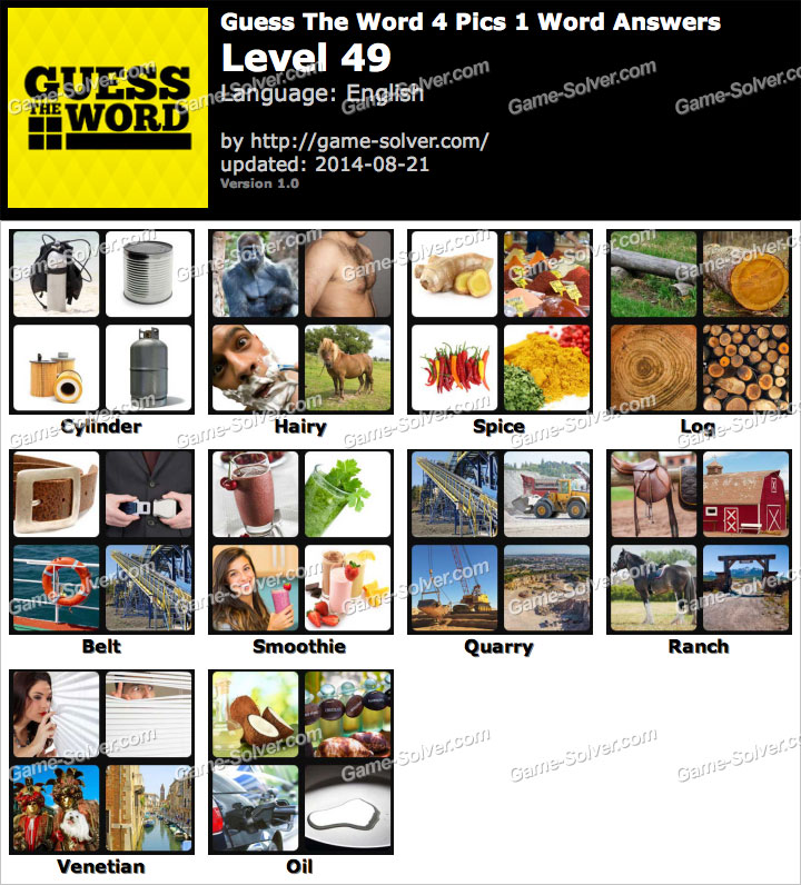 4 Pics Puzzle: Guess 1 Word Games APPS Free Download For ...