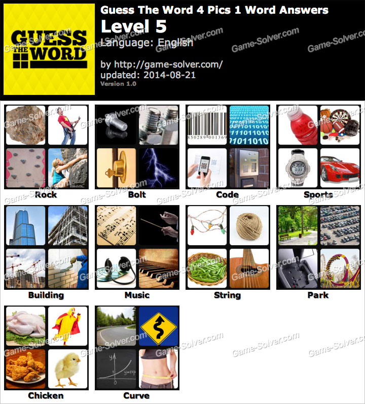 Guess the Word Level 5