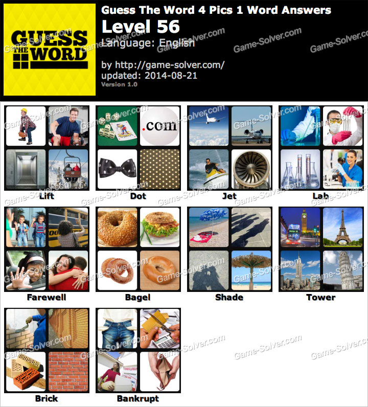 Guess the word 4 pics 1 word level 56 game solver guess the word 4 pics 1 word level 56 expocarfo Gallery