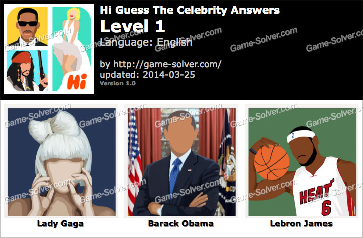 Celebrity Quiz - Guess the Star! - Level Pack 4 Answers ...