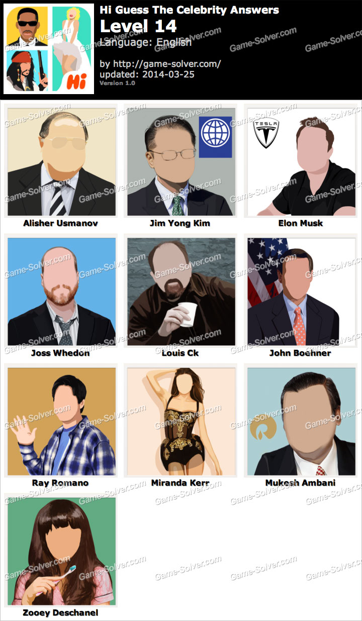 Guess The Celebrity (Taps Arena): Pack 5 Level 41 Answer ...