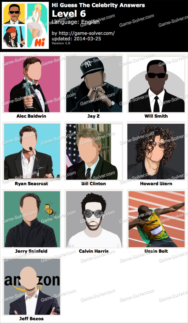 Celebrity Guess Level 23 - AnswersKey