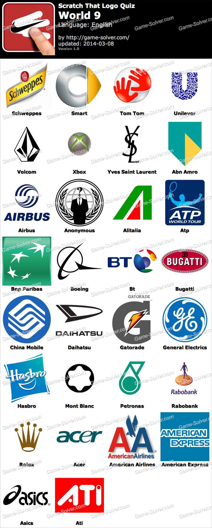 Logo Quiz World Lösungen