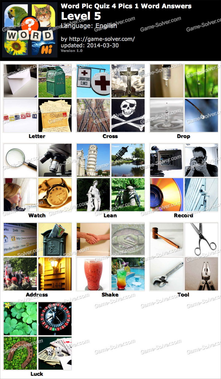 Word pic quiz 4 pics 1 word level 5 game solver word pic quiz 4 pics 1 word level 5 aljukfo Images