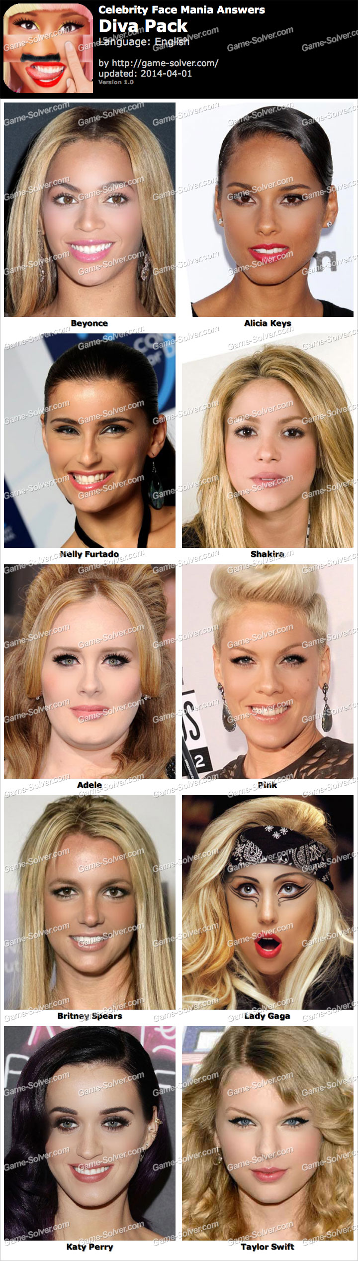 Celebrity Face Mania - Google Play MetricsCat