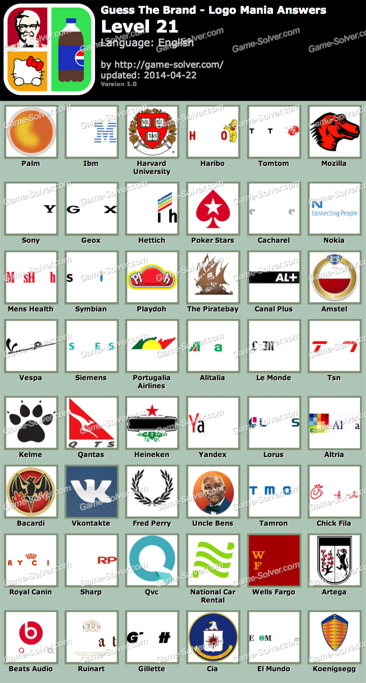 guess the brand logo mania level 21 game solver