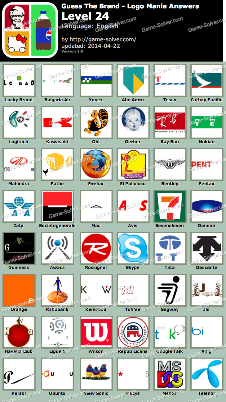 Guess The Brand Logo Mania Level 7
