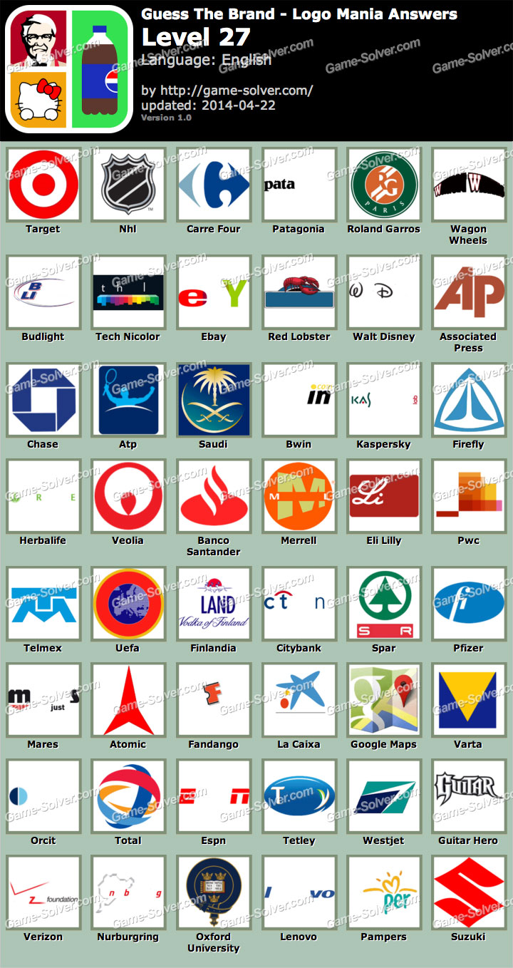 Guess Brand Logo Game Answers