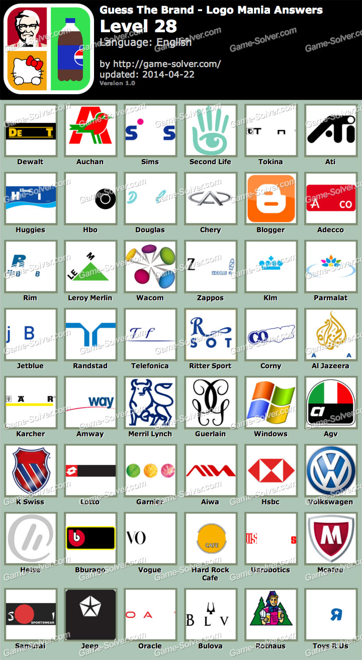 Guess The Brand Logo Mania Level 28
