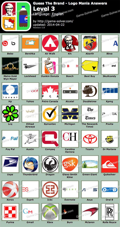 ... Mania Quiz Logo Mania Answers Logo Mania Guess The Brand Logo Mania